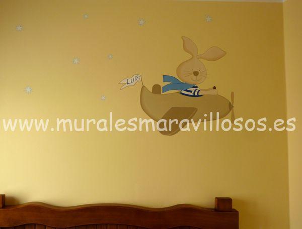 Decoraci n infantil de habitaciones pintura sobre paredes - Decoracion de paredes con pintura ...