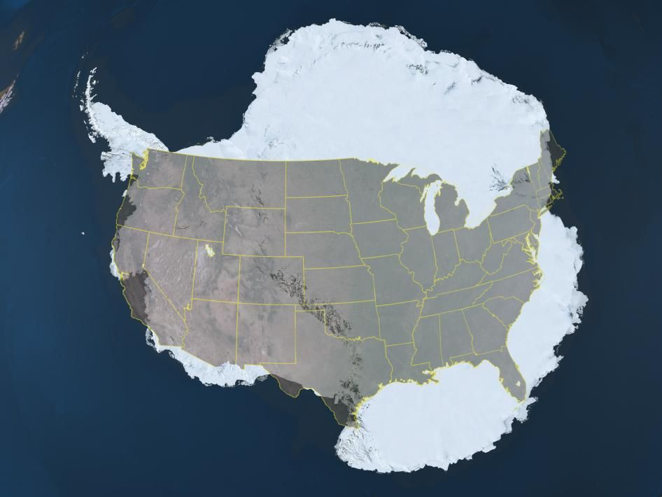 NASA Compare the Size of Antarctica to the Continental United