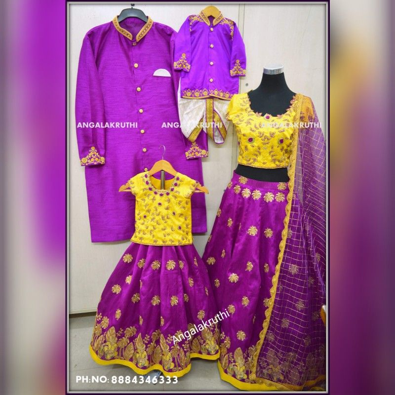 #Family Concept Dress Designs By Angalakruthi Boutique