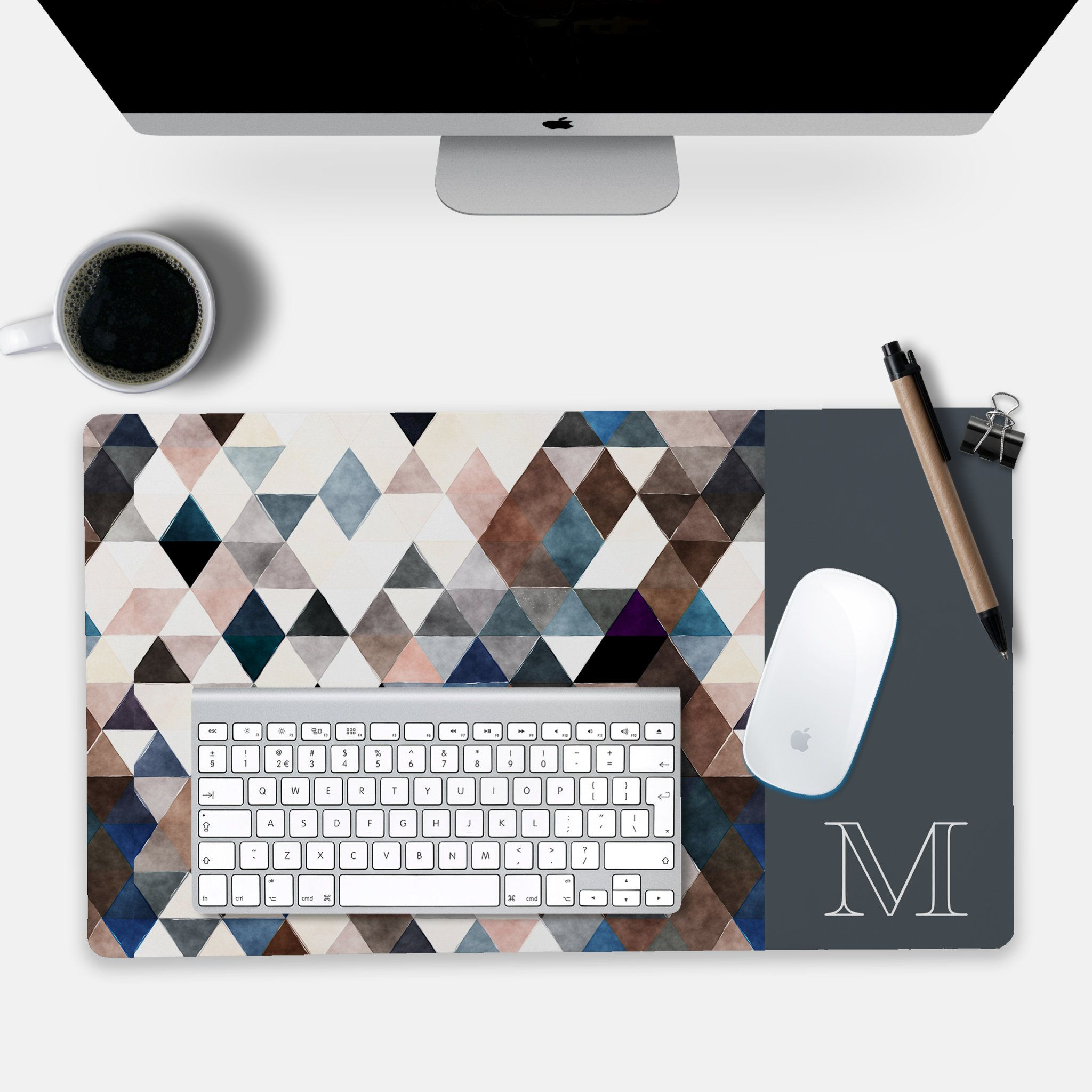 Personalized Gift For Him Large Desk Mat Masculine Sophisticated