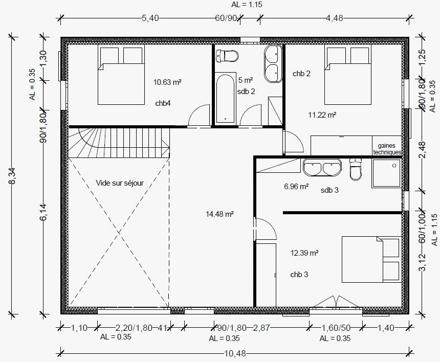 Plan Maison R 1 100m2 Impressionnant 1000 Images About Plan Maison On Pinterest Of Plan Maison R 1 100m2 Beau Cuisine Hot How To Plan Bow Window Perfect Image