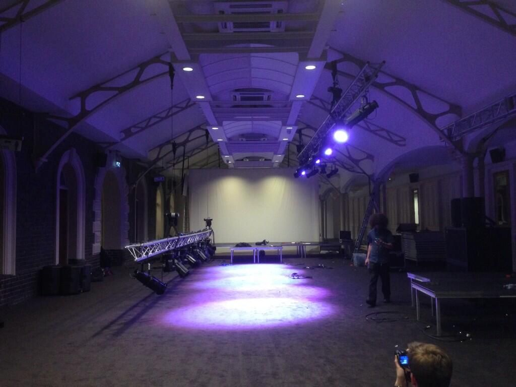 Time for day 2 transforming #Wolverhampton #LowLevelStation ready for @wlv_uni fashion show - via @drewwhite123 on Twitter.