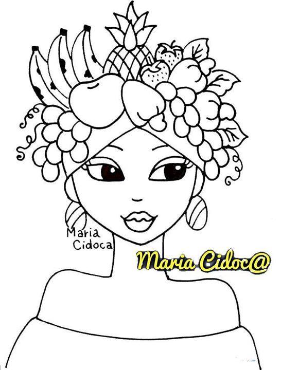 Desenhos Para Pintar Negras Africanas