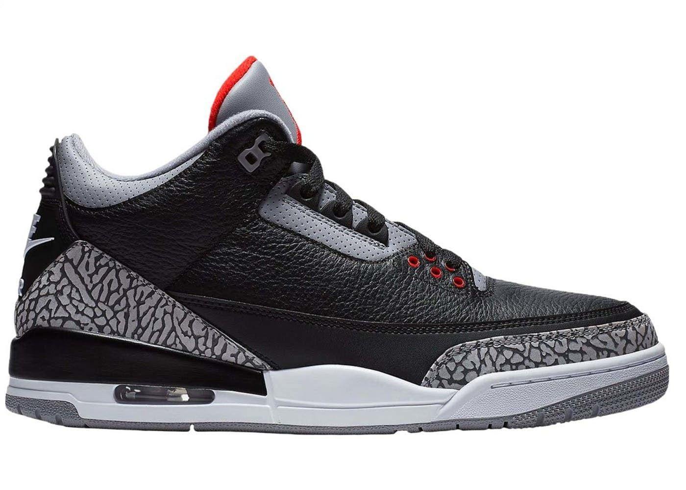 Jordan 3 Retro Black Cement 2018 Jordan 3 Black Cement Black Cement Jordans
