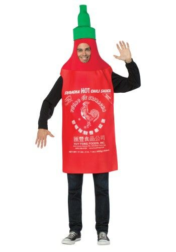 Adult Sriracha Bottle Costume