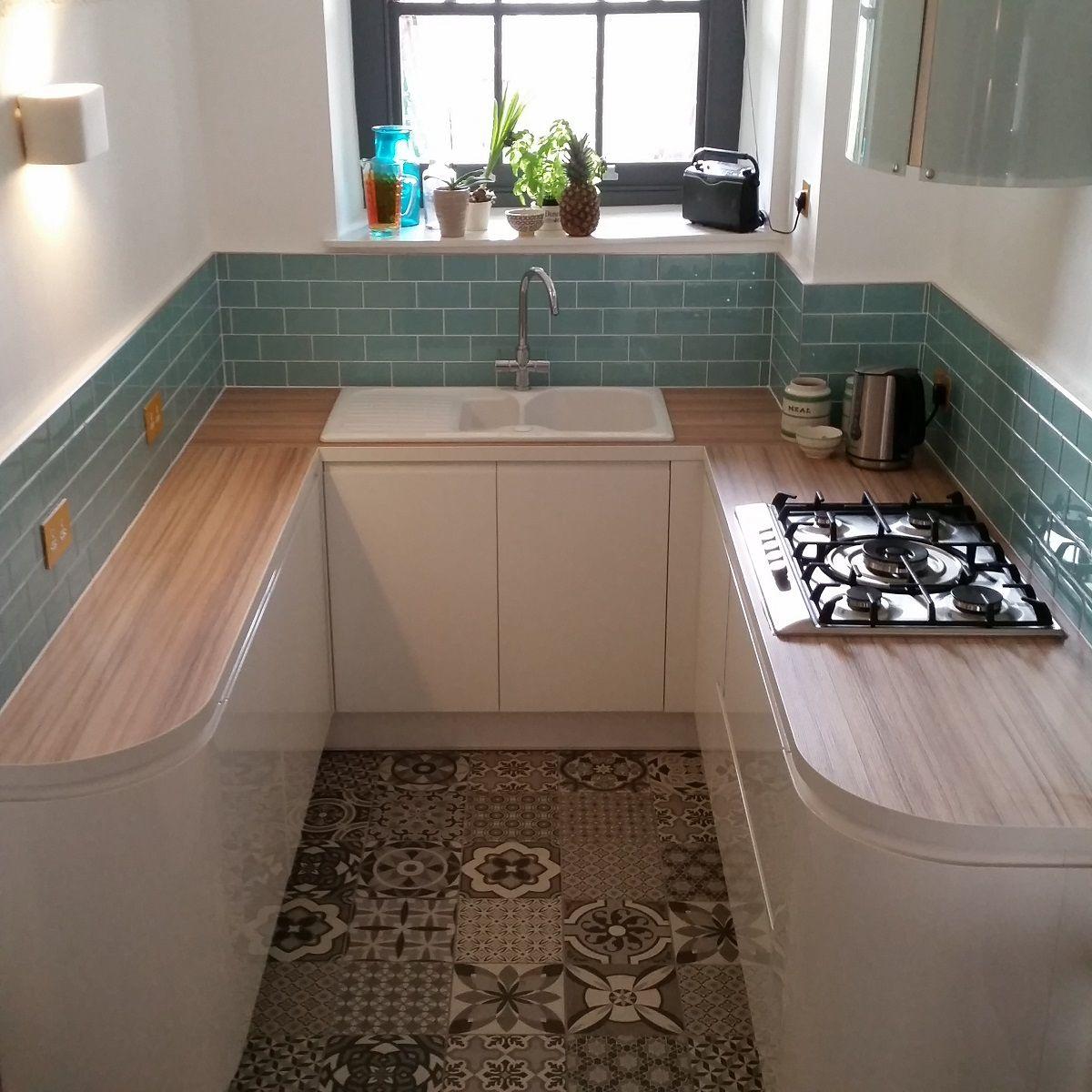 Glass Tile Ideas & Inspiration | Farmhouse kitchen remodel ...