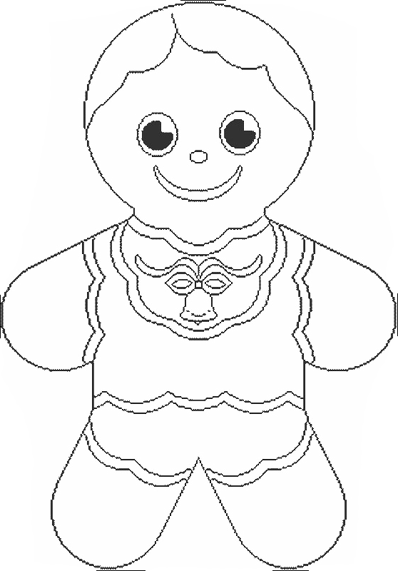 Gingerbread Boy Coloring Pages - Gingerbread Coloring Pages ...