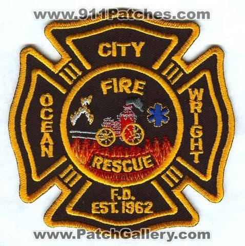 Ocean City Wright Fire Rescue Department Patch Florida FL
