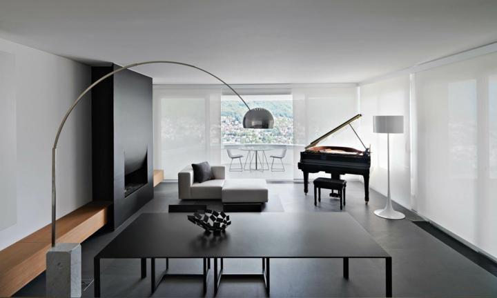 Interior Design Haus 2018 Farbe schwarz Ideen für Böden und moderne