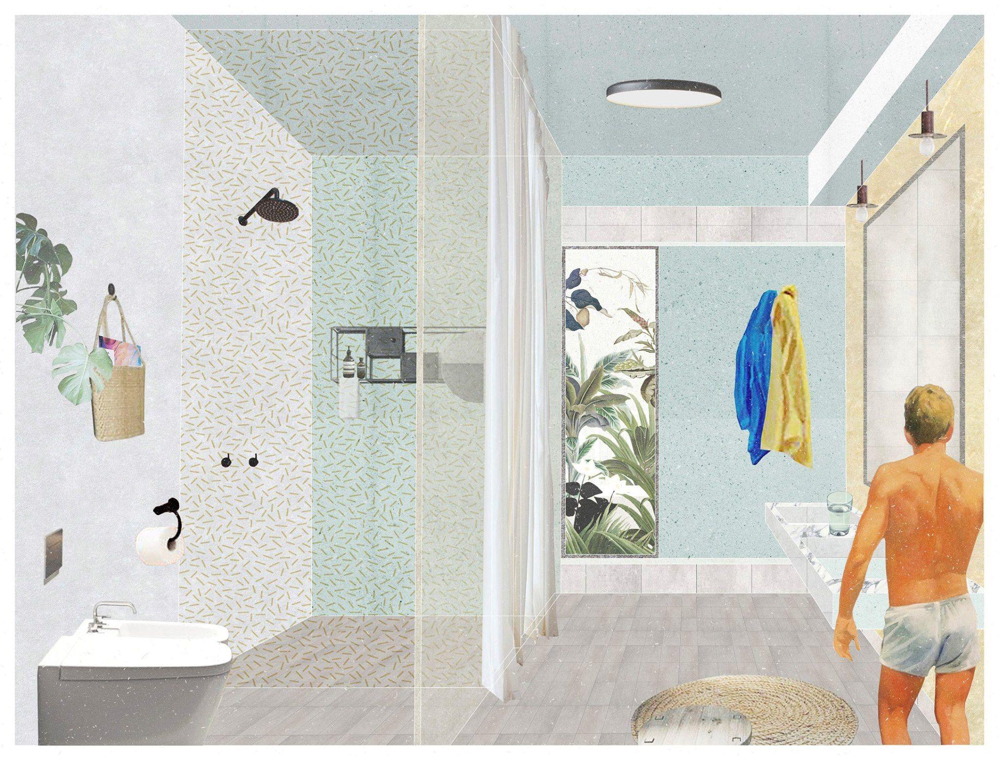 Vintage Bathroom Illustration Architecture Bathroom