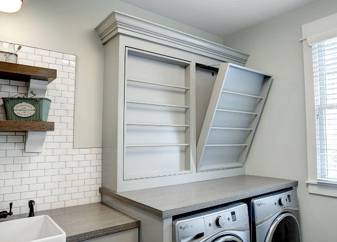 Barnwood Looking Laminate Countertop Woodgrain Laundry Room Features A