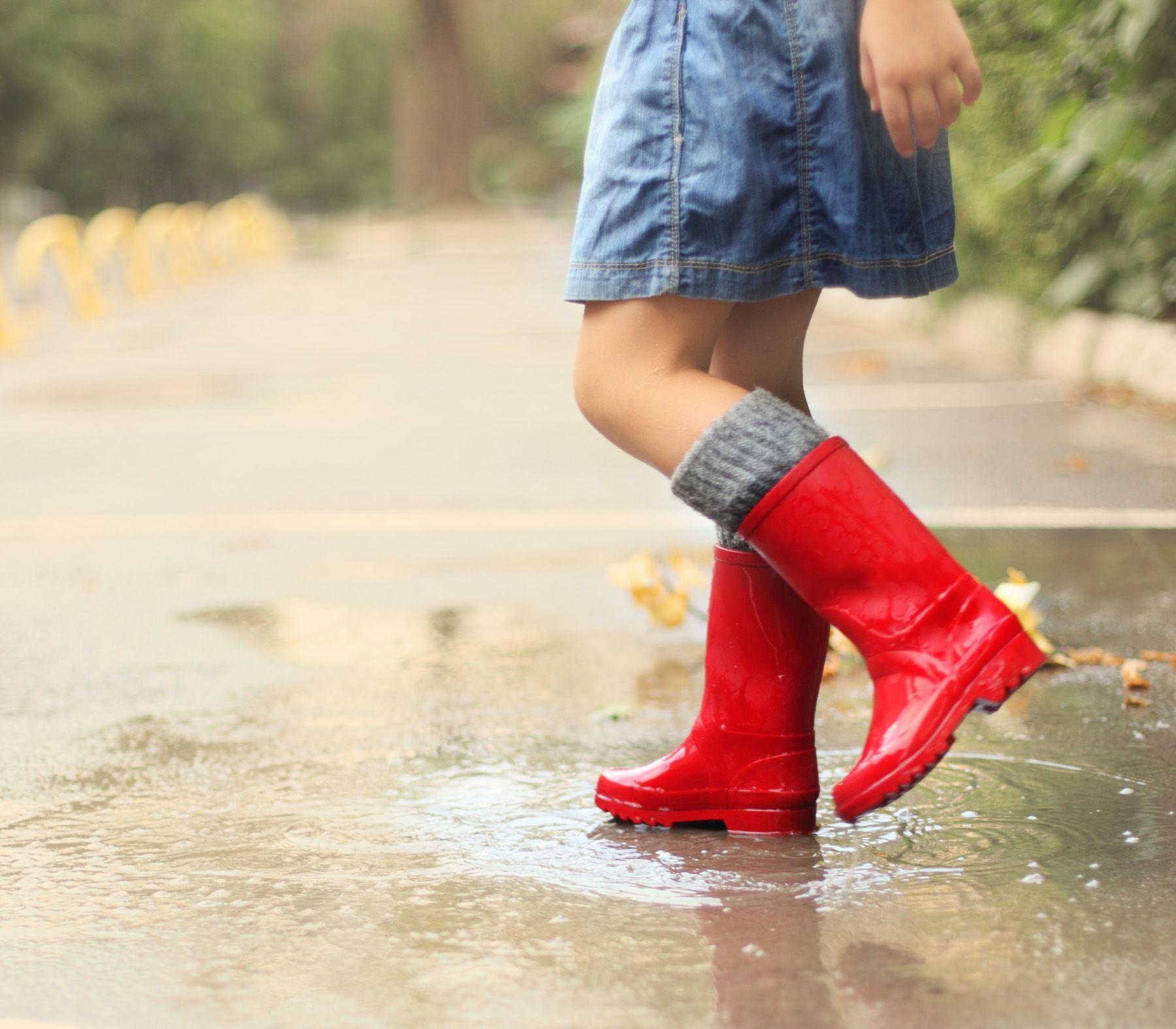little girls red boots