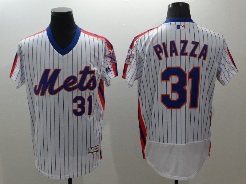 on sale 278e7 8eb7c 2016 MLB FLEXBASE New York Mets 31 Piazza white throwback ...