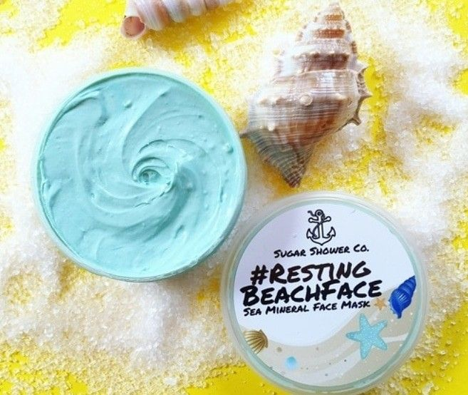 Resting Beach Face Sea Mineral Face Mask Sugar Shower Icing