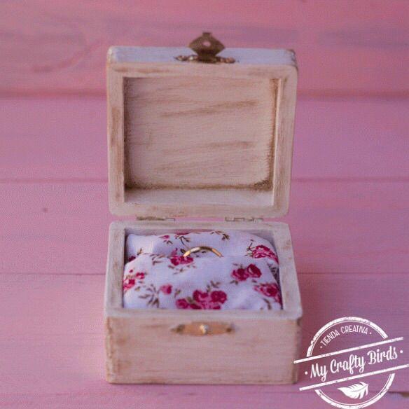 tutorial para aprender a hacer una caja porta alianzas caja de madera pintada con pintura