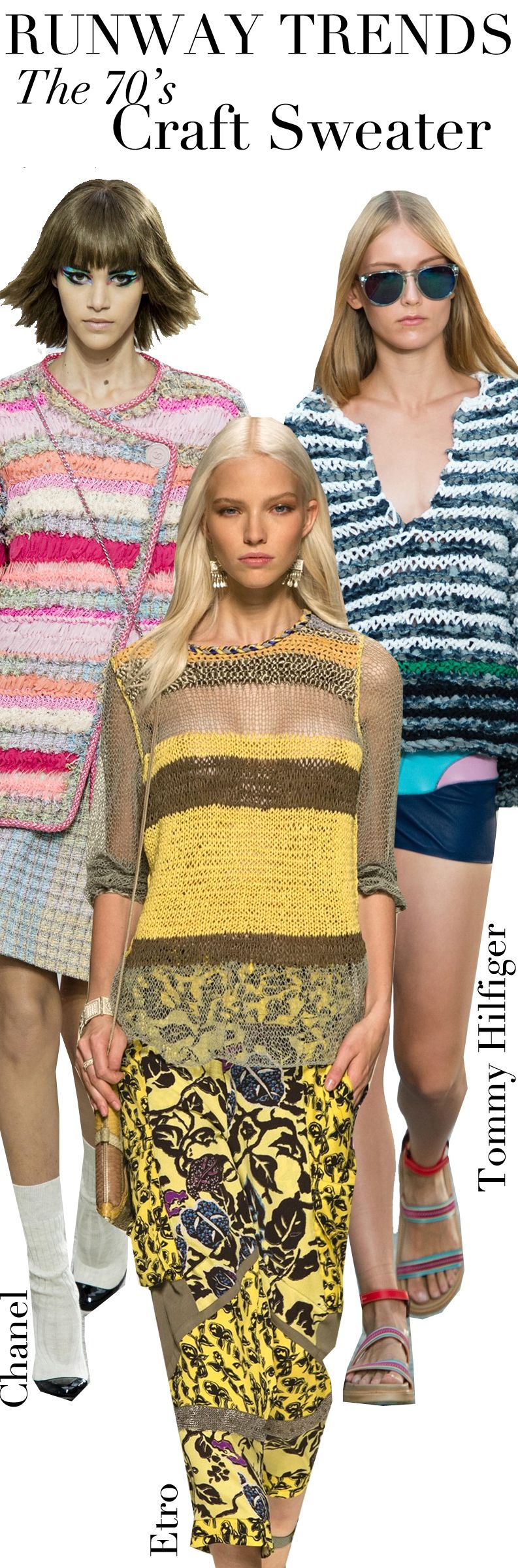 Trend Council:  Runway Trends - The 70's Craft Sweater