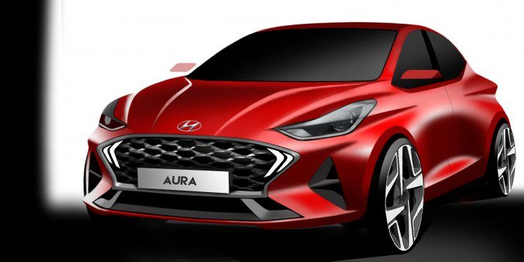 Hyundai Aura Official Renderings Released To Be Unveiled On 19