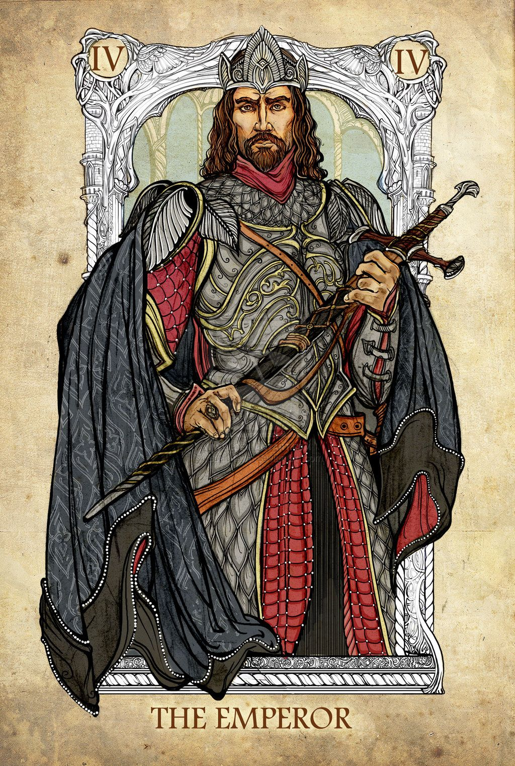 Lord Of The Rings Tarot: The Emperor By SceithAilm On