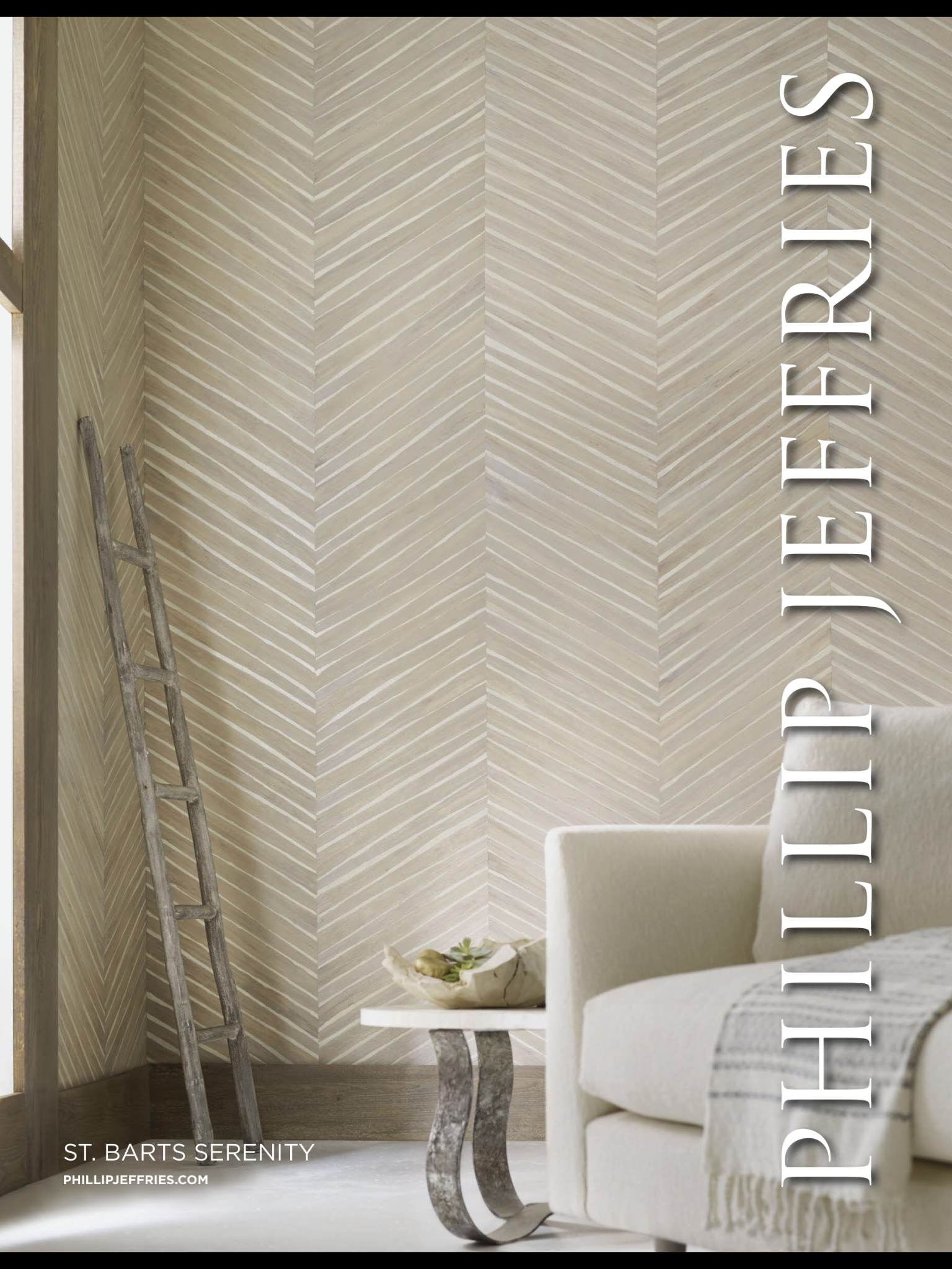 Phillip jeffries wallpaper high end country farmhouse look note the ladder great pattern
