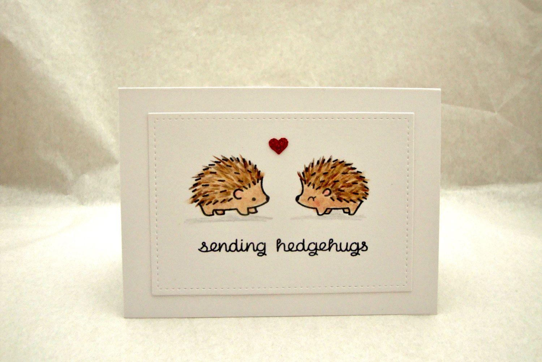 Hedgehog Birthday Card Hedgehog Anniversary Card Hedgehog Etsy Valentine Cards Handmade Valentines Cards Cards