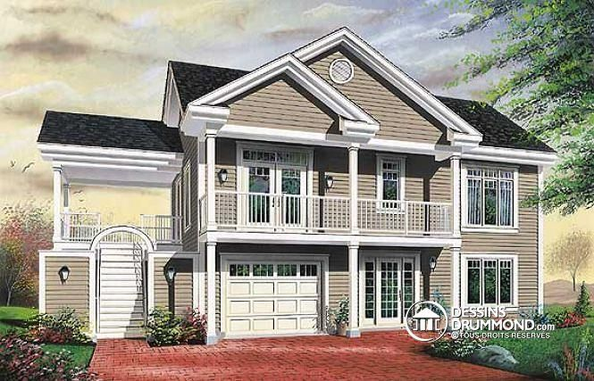 Plan de maison no W3905 de dessinsdrummond Sims 4 Pinterest