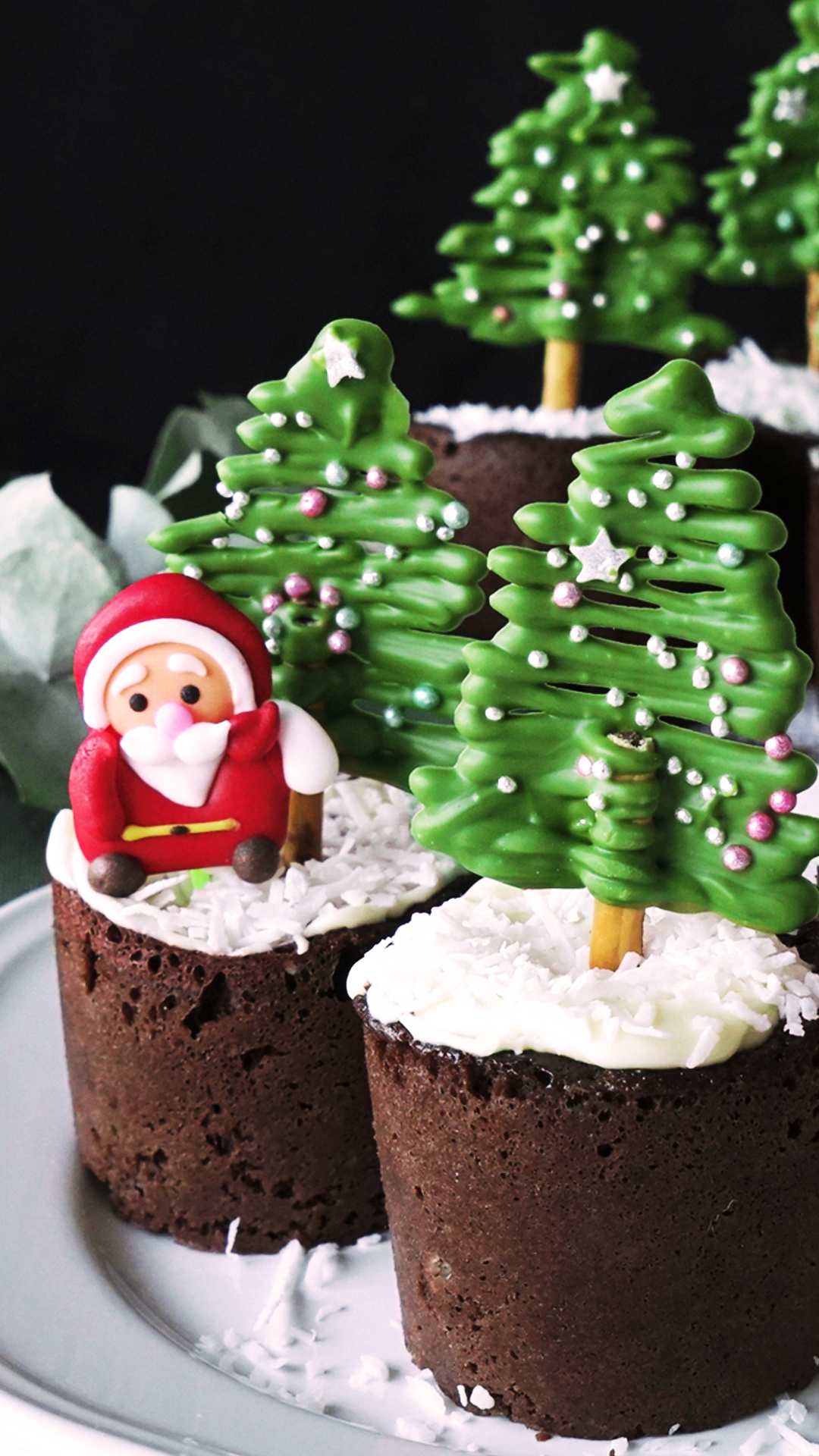 Christmas Tree Chocolate Muffins