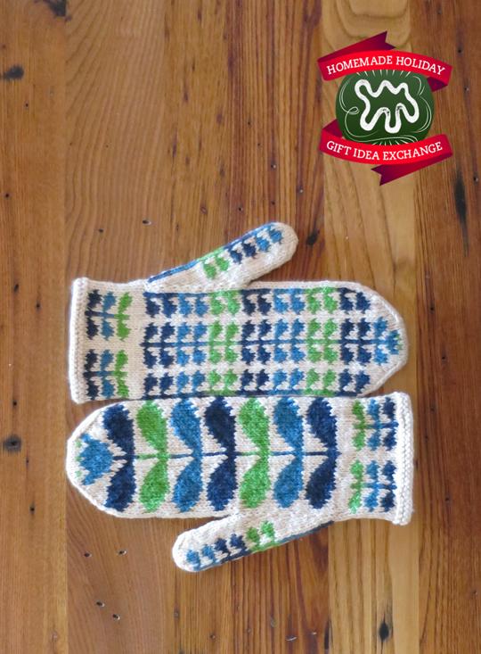 ¡Idea de regalo de vacaciones hecho en casa !: Teje estas manoplas estampadas