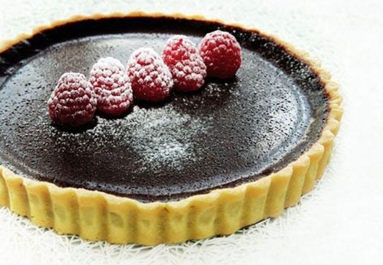 Chokoladetærte med hindbæris | Bobedre.dk
