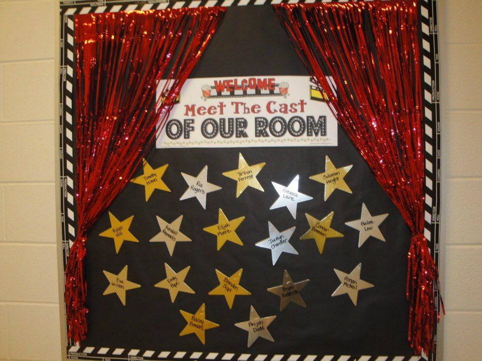Classroom movie theme classroom decorating ideas for Back to school board decoration