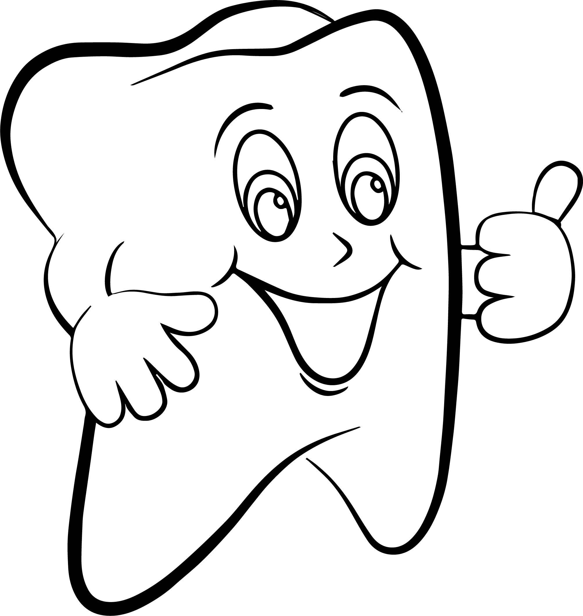 Super Dental Tooth Coloring Page