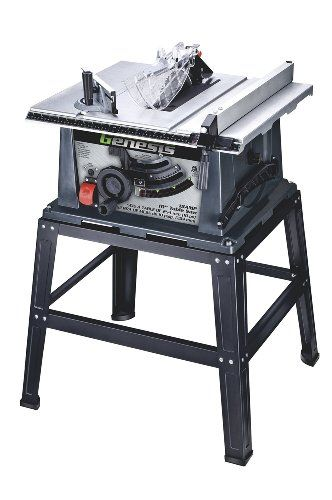 Genesis Gts10sb 10 Inch 15 Amp Table Saw With Stand Http Www Homeimprovementoffer Com Saws Table Saws Genesi Portable Table Saw Table Saw 10 Inch Table Saw