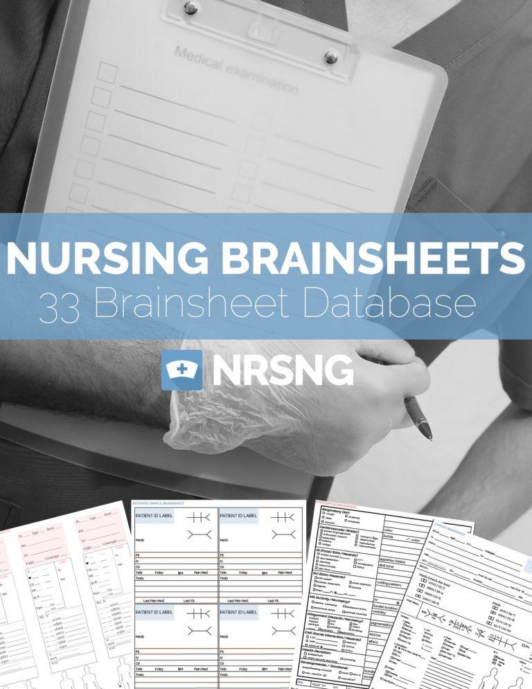 The Ultimate Nursing Brain Sheet Database Nurse