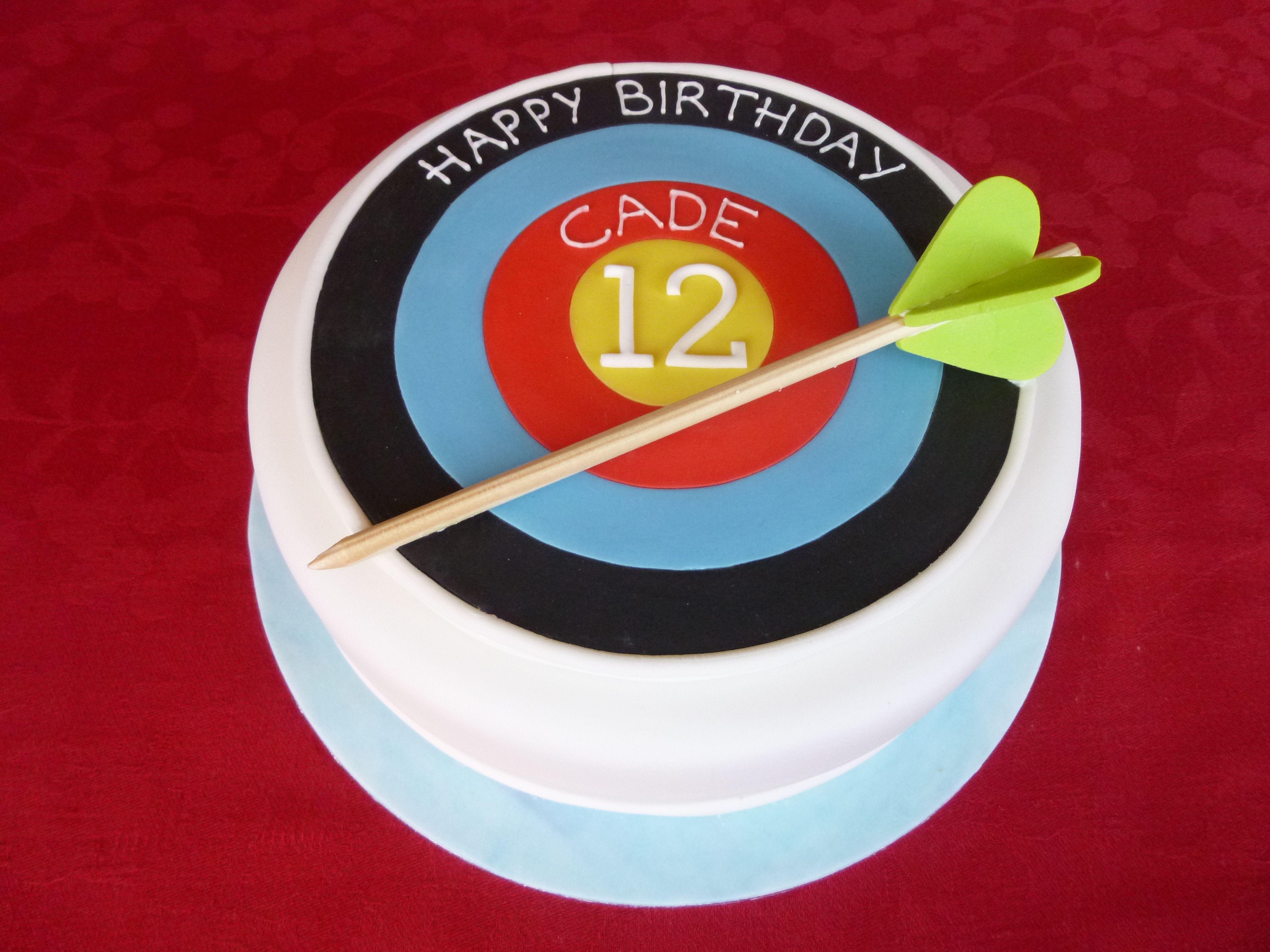 Archery Target Birthday Cake let them eat cake Pinterest