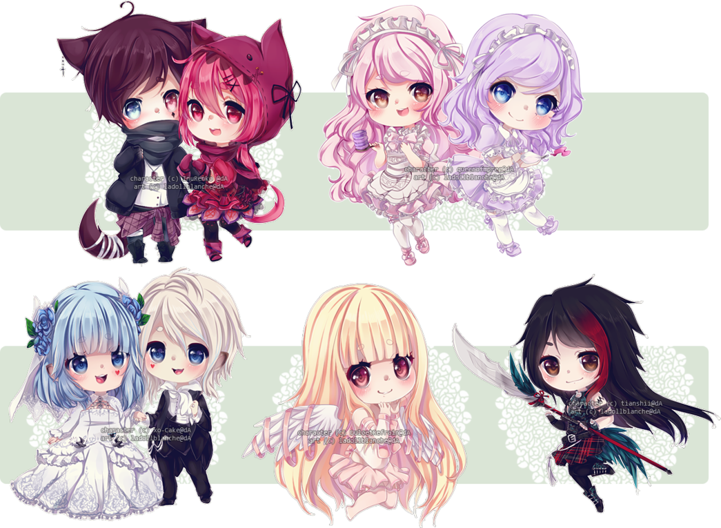 Chibi commissions 11 by LaDollBlanche on DeviantArt | drawings ...