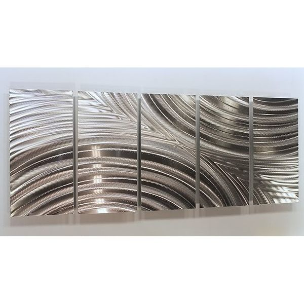 Statements2000 Etched Silver Modern Metal Wall Art Sculpture by Jon Allen…
