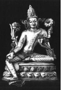 A gilt bronze figure of Padmapani, Bihar, Kurkihar, 12th century, 10 inch (height).