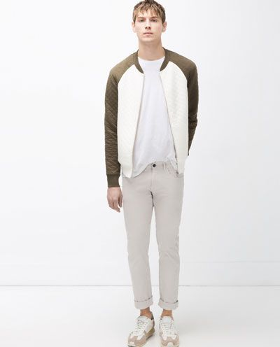717a3cdf0 Image 1 of TWO-TONE QUILTED BOMBER JACKET from Zara | Spring/Summer ...