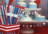 little sailor straw slips - print & decorate your party with our nautical inspired straw slips; six patterns (you'll receive a template via e-mail within 24 hours of purchase, complete with instructions)