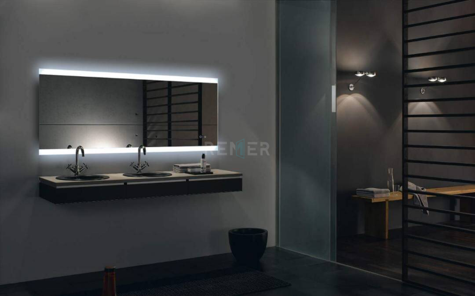 Superieur Backlit Mirror, Remer, 1700mm, LED Mirror, Demister Pad, Demister Mirror,  Smart Mirror, Light Up A Mirror, LED, Vanity, Bedroom, Bathroom, Makeup  Mirror, ...