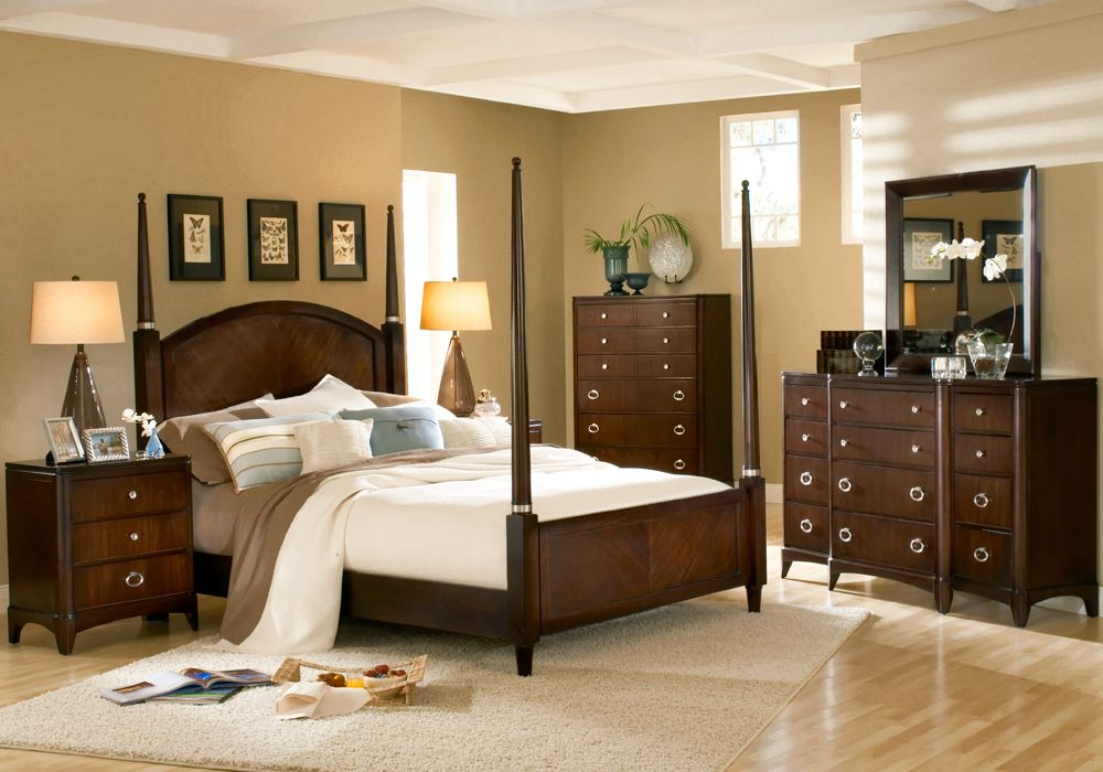 East Hampton Collection Is American Woodcrafters Contemporary Bedroom Clean Styling And A Metropolitan Design With Savvy Sable Finish On Mahogany Solids