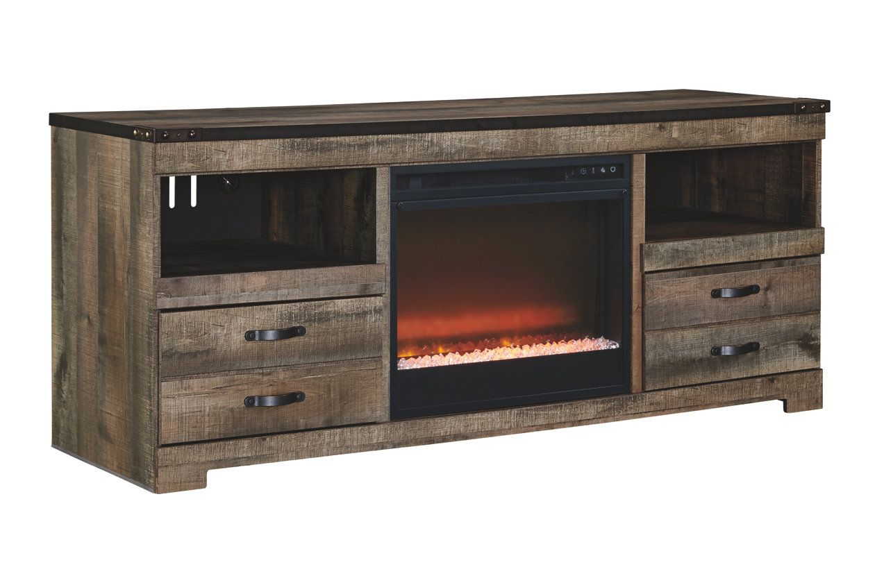 Trinell 63 Tv Stand With Electric Fireplace Ashley Furniture Home