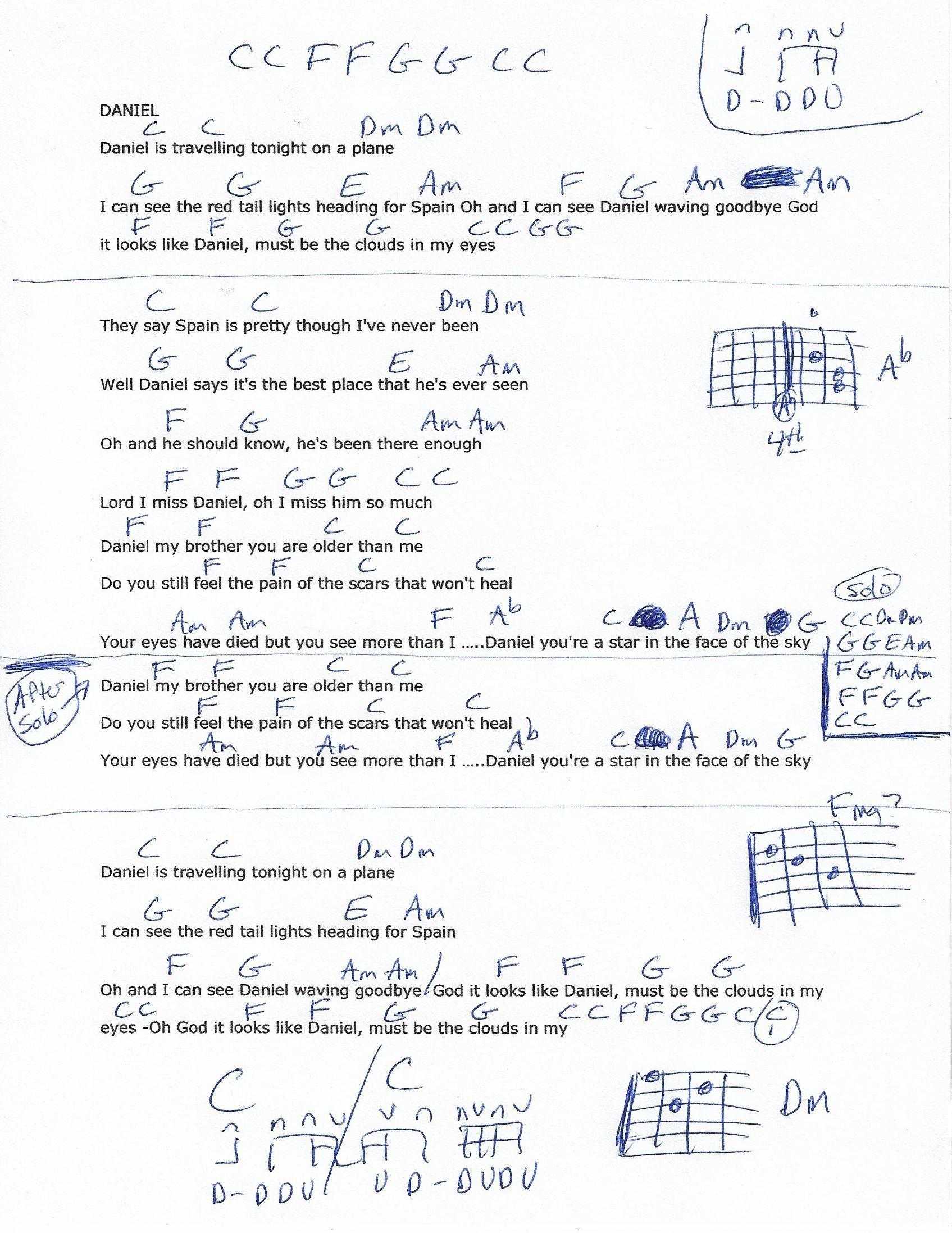 Daniel Elton John Guitar Chord Chart Guitars Pinterest