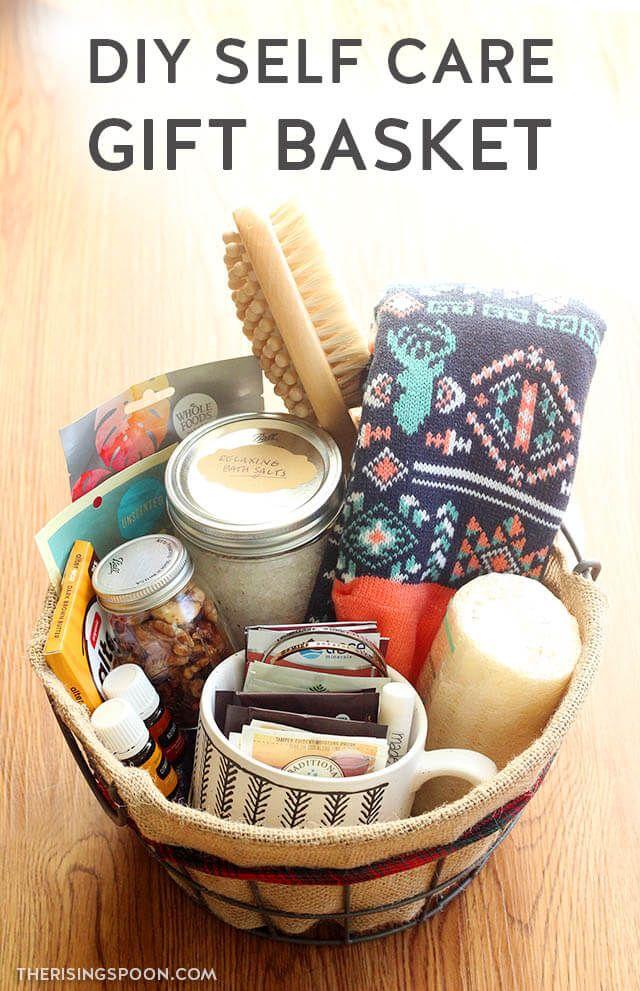 DIY Self Care Gift Basket | Homemade gift baskets, Diy ...