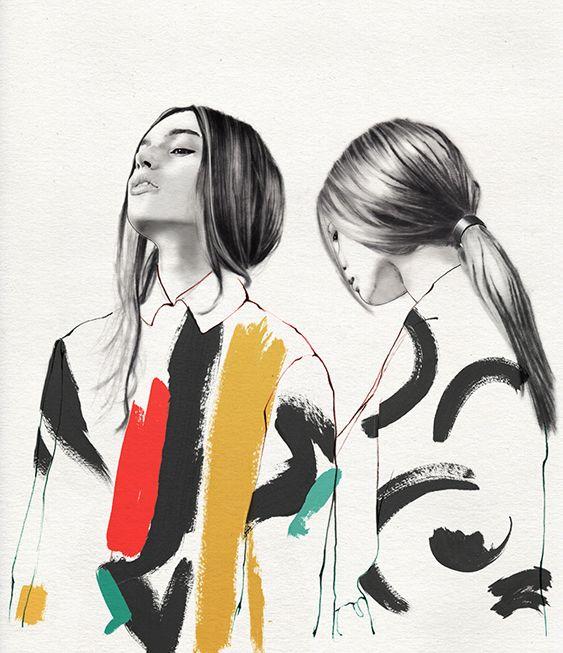 Photo of lucie birant #illustration #fashion editorial