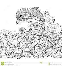 Картинки по запросу раскраска для взрослых дельфин ...