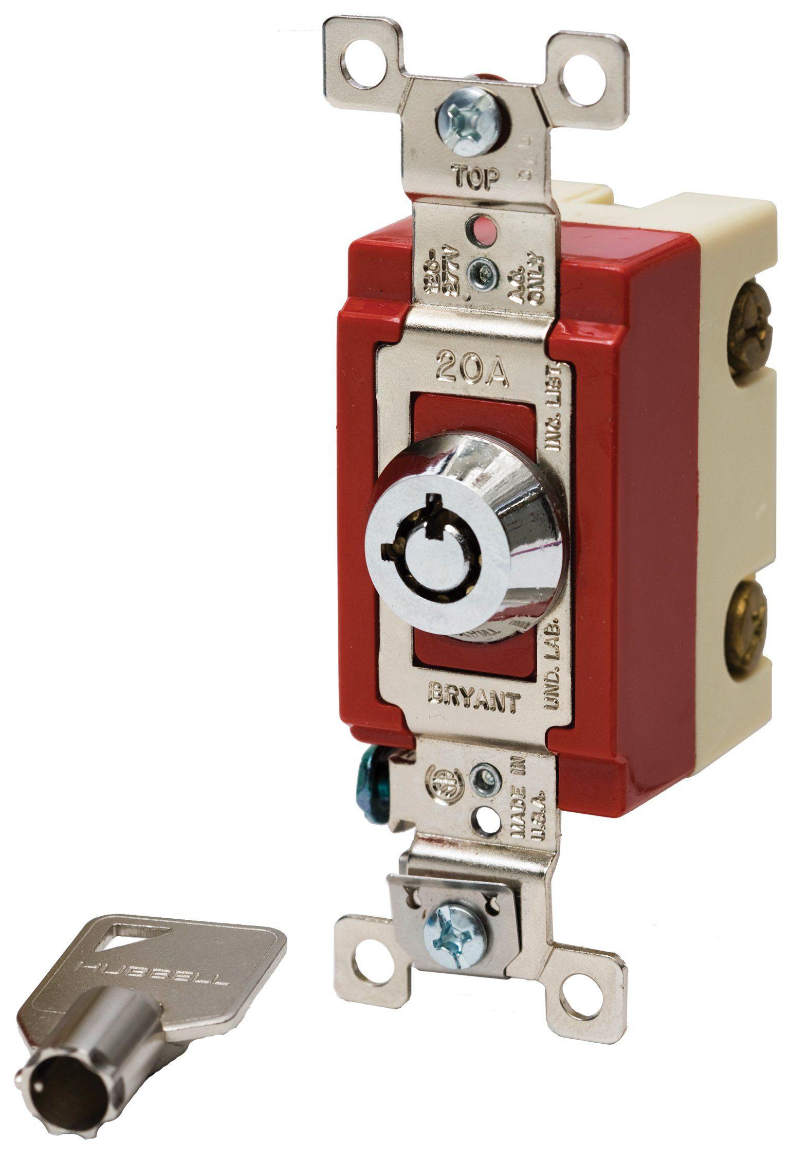 Bryant Electric 4901RKL Locking Type Switch BarrelKey