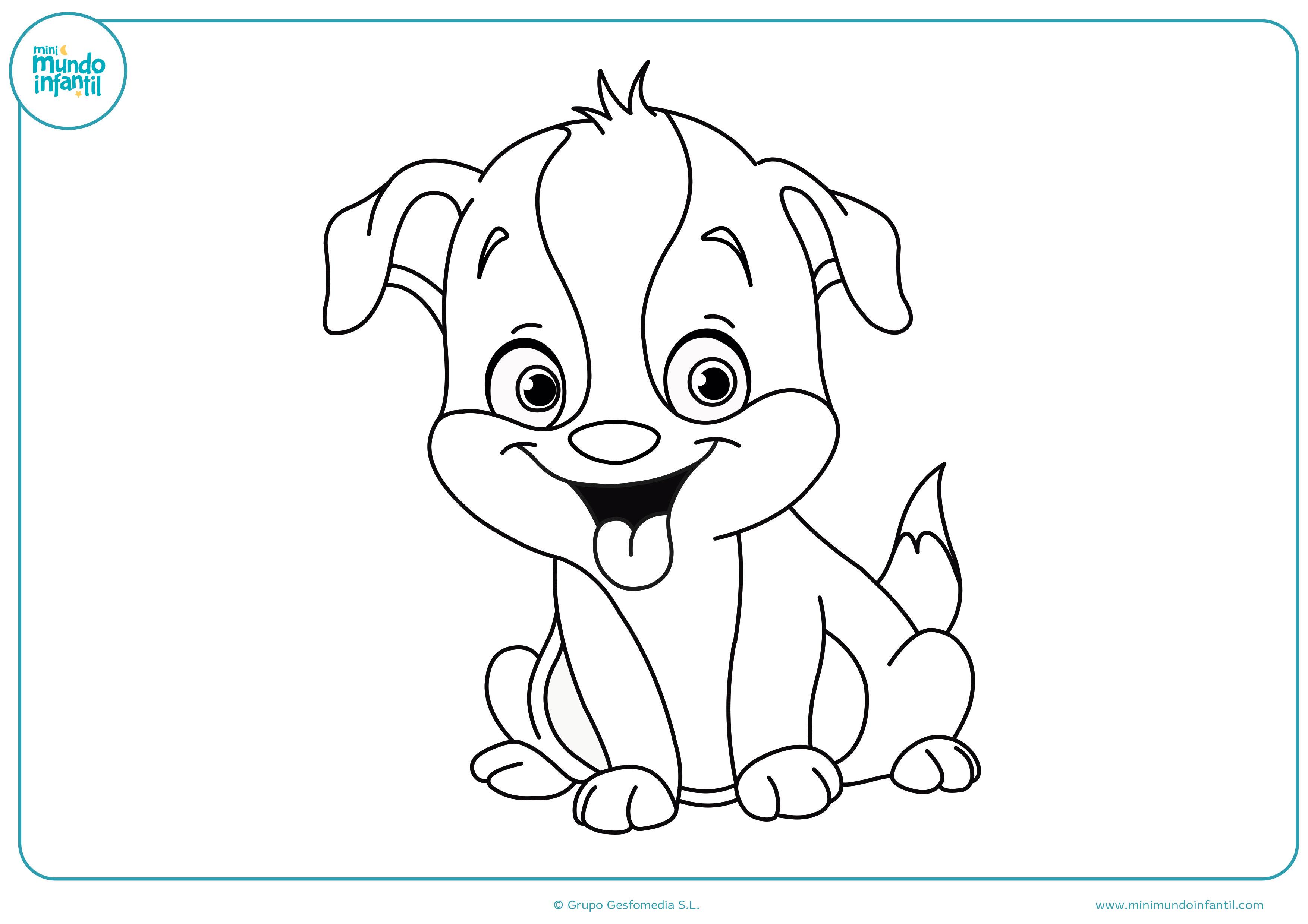 Dibujos De Perros Para Colorear A Lapiz Y Faciles Dibujos De Perros Perro Colorear Dibujos De Animales