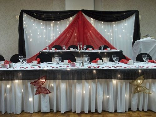 black and red wedding decoration | wedding decorations timmins if ...