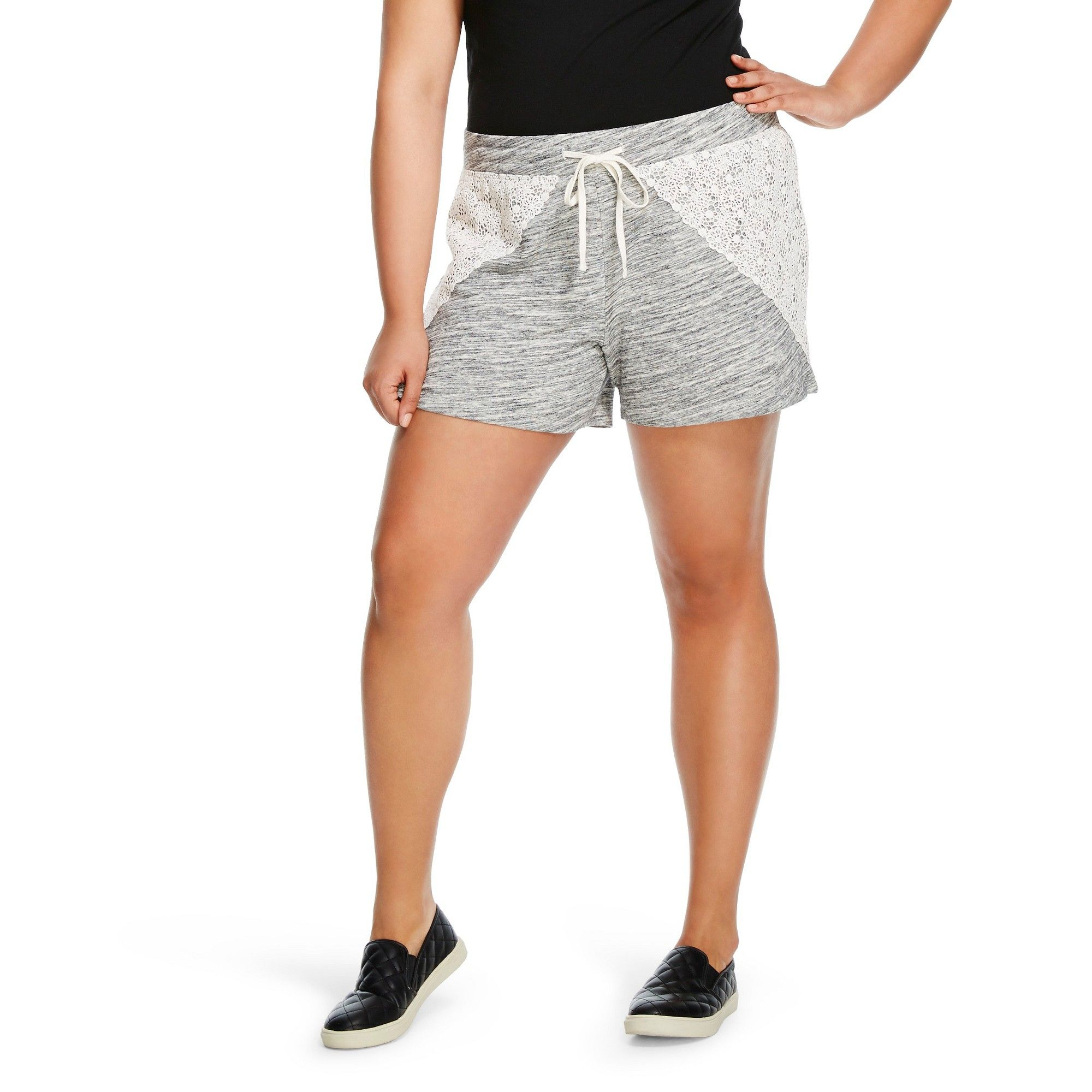 cc75fff47d3 Women s Plus Size Soft Shorts Space Gray 4X - Mossimo Supply Co ...