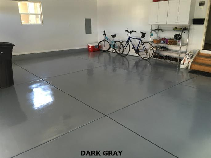 Dark Gray Commercial Epoxy Flooring
